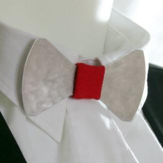 Passant supplémentaire pour Nœud Papillon. Tissu rouge