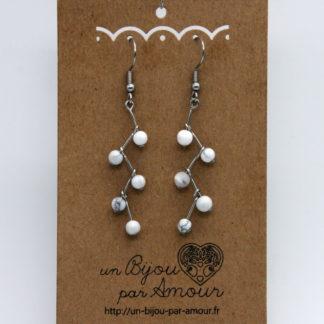 Boucles d'oreilles Grappe de perles.